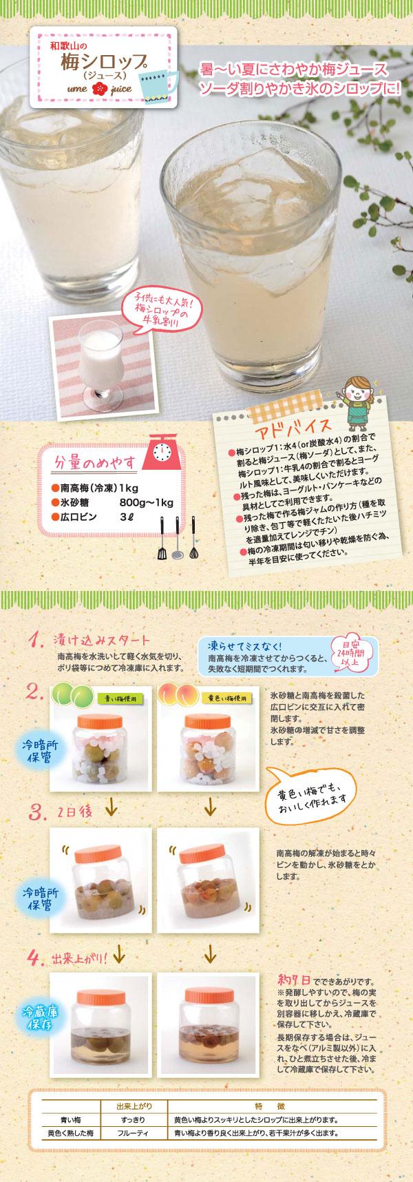 梅シロップ(ジュース)の作り方